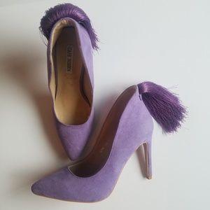 Cape Robbin Purple Tassel Heels